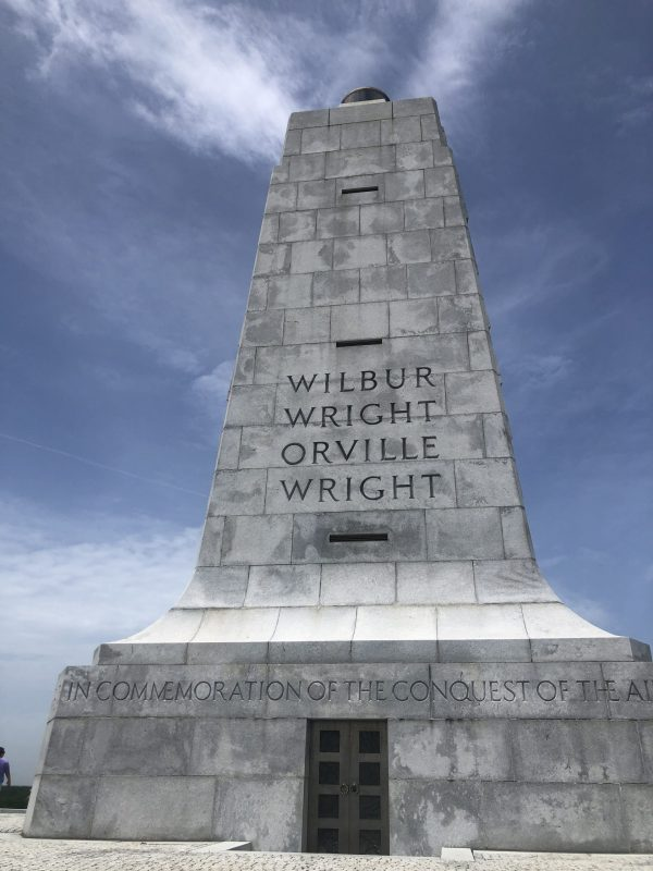 Outer Banks NC by popular Nashville travel blogger, Greta Hollar: image of Wright Brother's National Memorial.