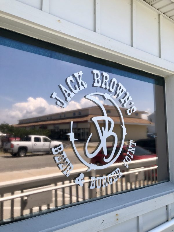 COVID Travel: The Best Things to Do Outer Banks, NC When Social Distancing | Greta Hollar |  Outer Banks NC by popular Nashville travel blogger, Greta Hollar: image of Jack Brown's beer and burger joint.