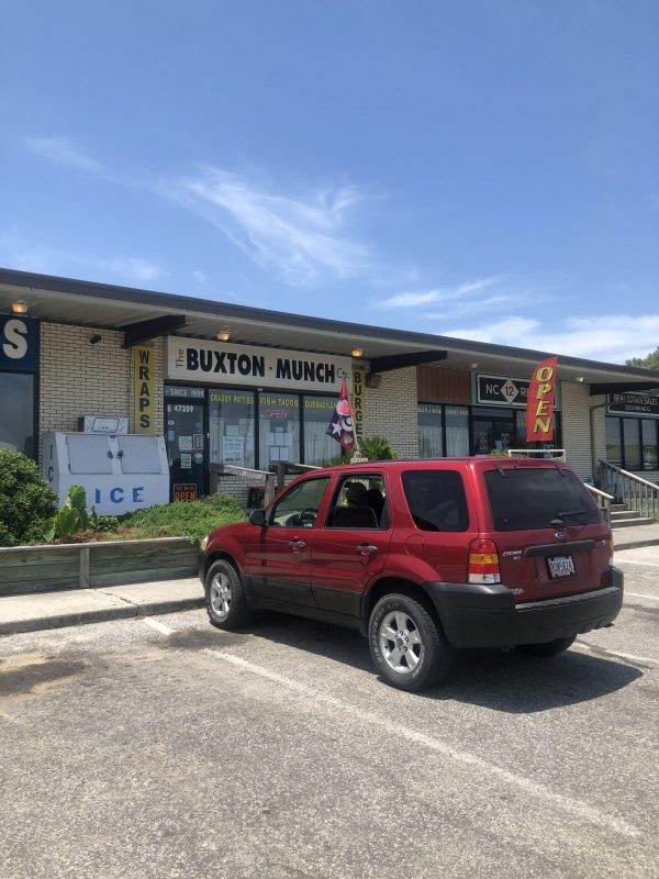 COVID Travel: The Best Things to Do Outer Banks, NC When Social Distancing | Greta Hollar |  Outer Banks NC by popular Nashville travel blogger, Greta Hollar: image of the buxton munch co.