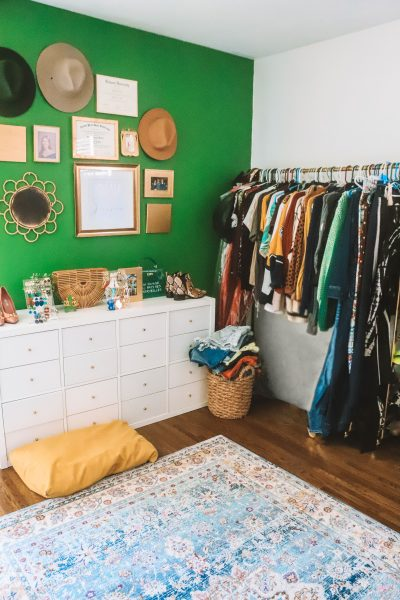 How to Turn Your Guest Room into a Cloffice with Old Time Pottery | Greta Hollar