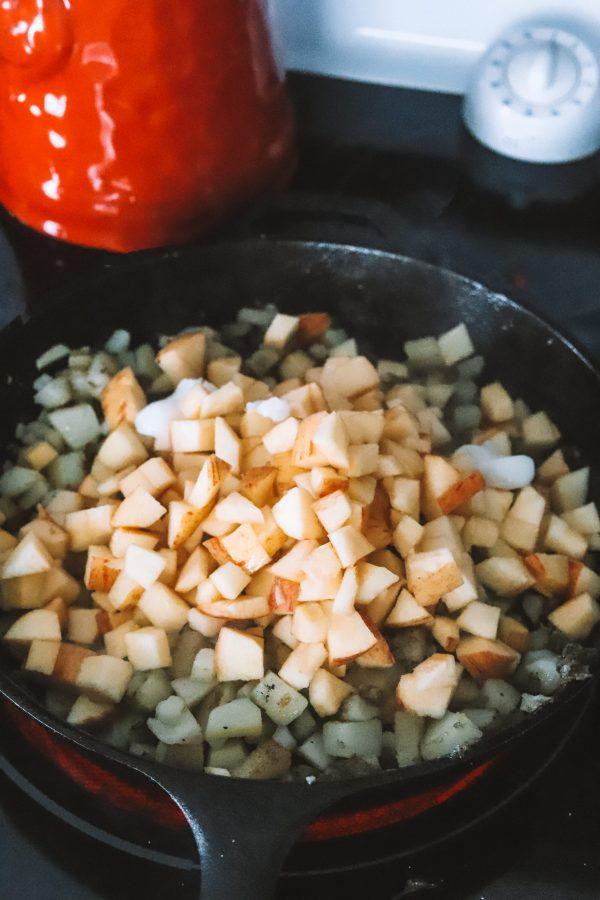 Smithfield Pork Recipe: Potato Apple Hash Browns | Greta Hollar
