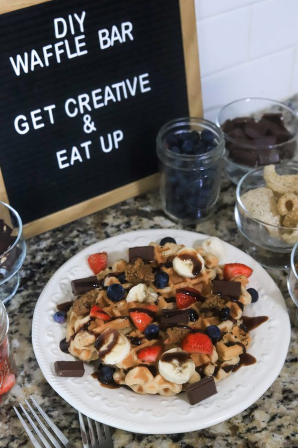 DIY Waffle Bar Menu Ideas | Greta Hollar