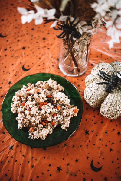 Spooky Halloween Popcorn Treats Recipe | Greta Hollar
