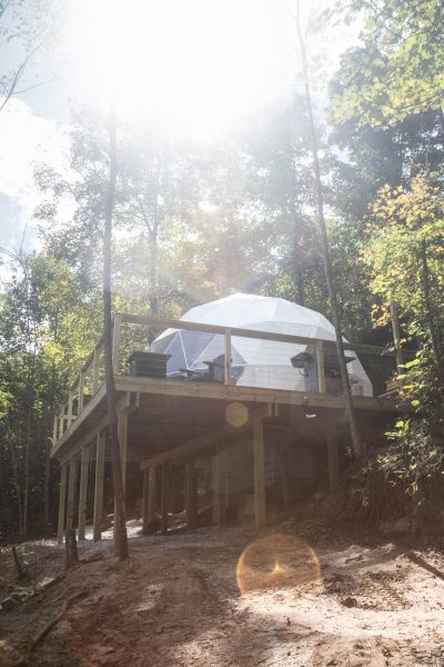 Tennessee Glamping Guide for your Next Girls Getaway | Greta Hollar |Girls Getaway by popular Nashville travel blogger, Greta Hollar: image of a dome.
