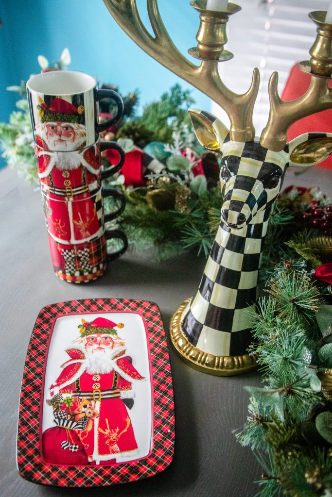 A Festive Christmas MacKenzie-Childs Tablescape | Greta Hollar