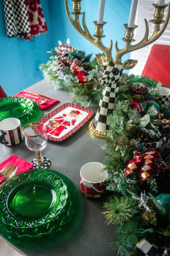 A Festive Christmas MacKenzie-Childs Tablescape | Greta Hollar