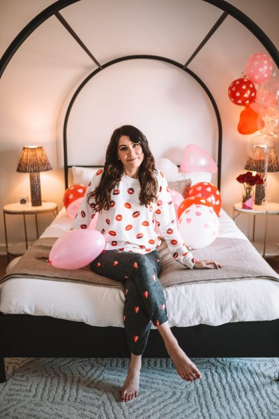 5 Cute Loungewear Sets for Tall Women to Wear on Valentine's Day | Greta Hollar