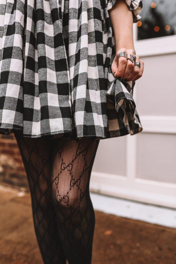 4 Cute Gucci Tights Outfits for Tall Women | Greta Hollar