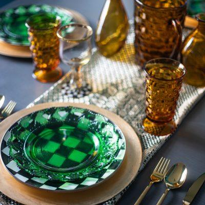 Green and Gold Spring Tablescape Idea   Greta Hollar