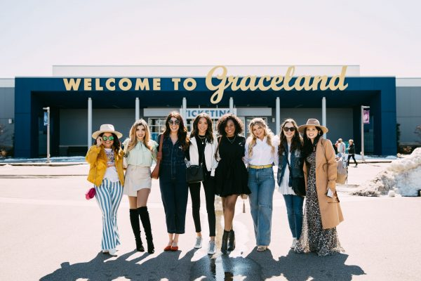 Memphis Trip by popular Nashville travel blogger, Greta Hollar: image of a group of women standing together.