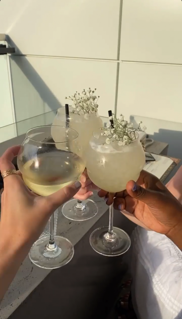 48 Hours in ColumbusOhio: a Complete Travel Guide | Greta Hollar | Greta Hollar | Columbus Ohio Travel Guide by popular Nashville travel blogger, Greta Hollar: image of two women holding glasses of white wine.