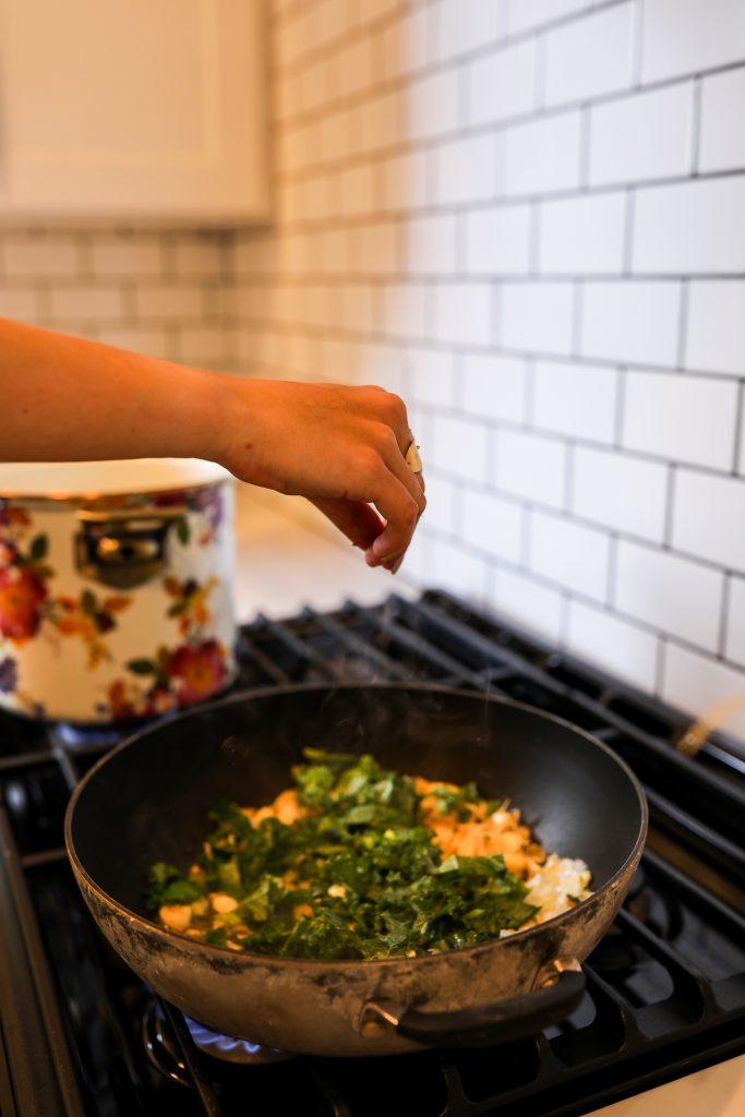 Barilla Red Lentil Pasta with Lemon Garlic Kale   Greta Hollar