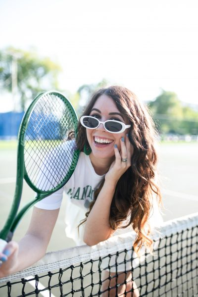 High-Fashion Tennis Outfit | Greta Hollar